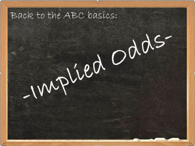 Implied Odds Poker Blackboard Image