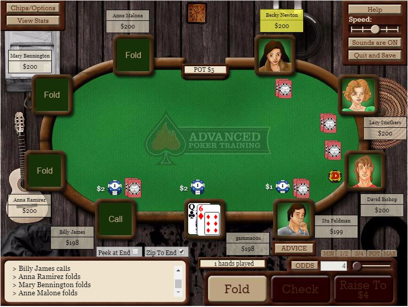Advanced poker training review