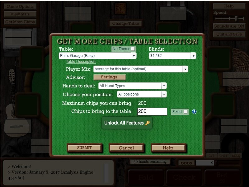 Advanced Poker Training Home Image