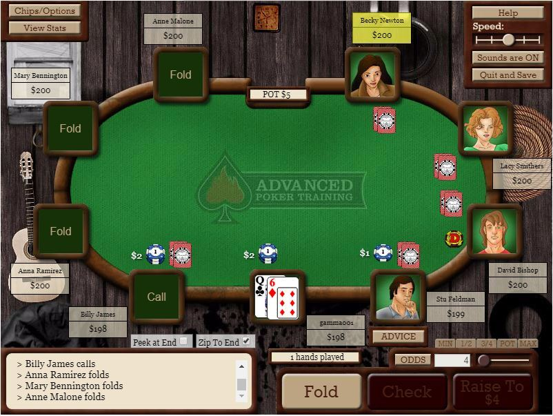 Advanced Poker Training Table Image