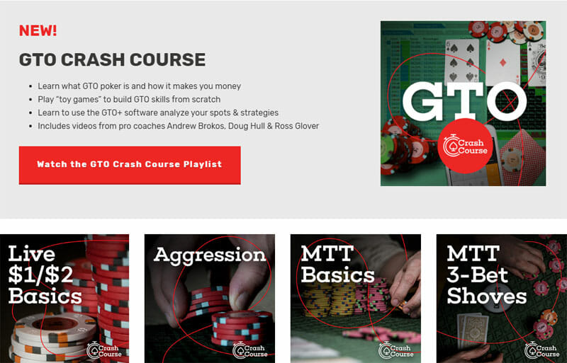 Red Chip Poker Crash Courses